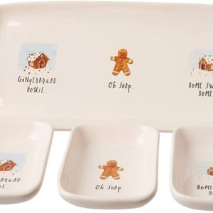 Rae Dunn 4-Piece Gingerbread Holiday Tray Set